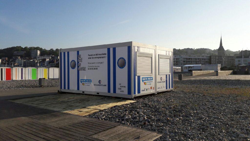 La cabane modulaire CLUB TPE/PME CCI Seine Estuaire